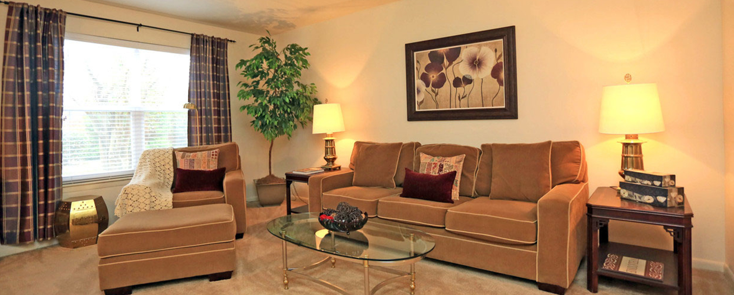 Hidenwood Apartments Brightened Living Room